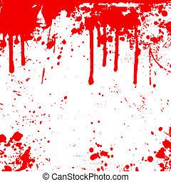 druppels, bloed