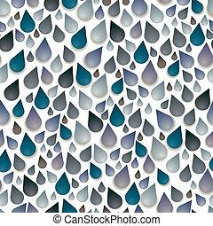 druppels, pattern., seamless, regen