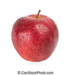 druppels, waper, appel, vrijstaand