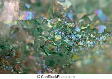 crystals Agate SiO2 silicon dioxide. Macro - Druse green...