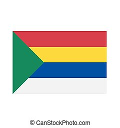 Druze religion flag insignia- Five colors represent 5 ...