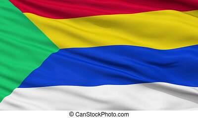 Druze Religious Close Up Waving Flag