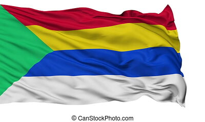 Druze Religious Isolated Waving Flag