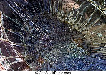 druzgotane szkło