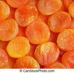 Dry apricots as background