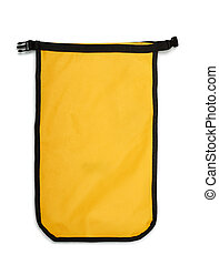 Dry Bag - Small yellow dry bag isolated on white