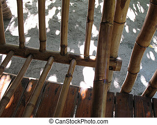 dry bamboo structure