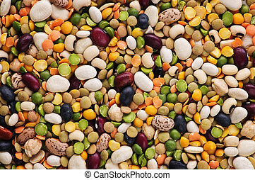 Assorted Mix of dry beans and peas