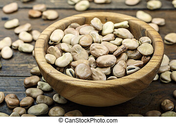 dry beans in a plate