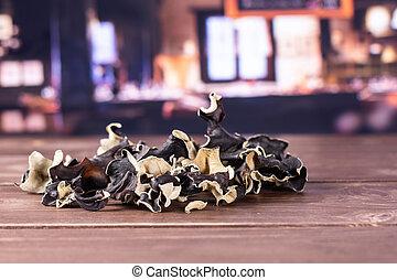 Dry black mushroom jew ear with restaurant - Lot of slices...