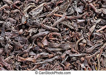Dry Black Tea Macro Background