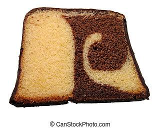 Dry cake piece