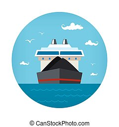 Dry Cargo Ship Icon