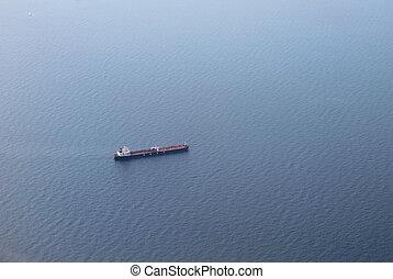 Dry Cargo Ship in the Mediterranean Sea