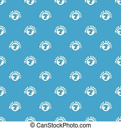 Dry cleaning pattern vector seamless blue