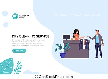 Dry cleaning service concept. Vector flat graphic design illustration
