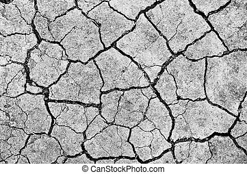 Dry crack soil on dry season, Global worming effect.