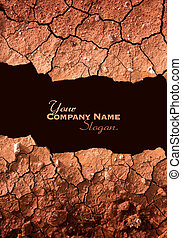 Dry cracked earth texture slogan - Dry cracked earth due to ...