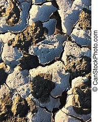 Dry cracked ground