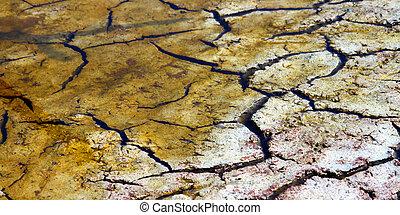 Dry Cracked Mud Background