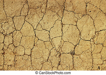 Dry cracked mud close up natural abstract background.