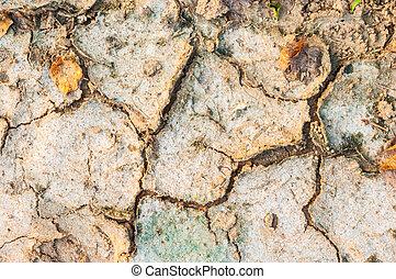 dry cracked soil-rough grunge background