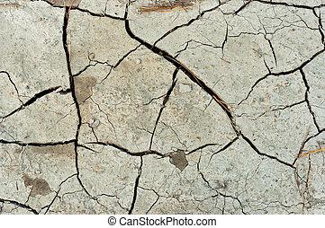 Dry cracked soil texture