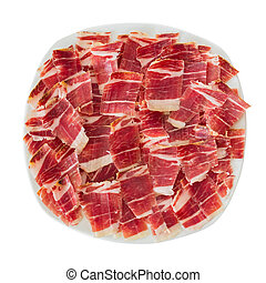dry-cured ham slices
