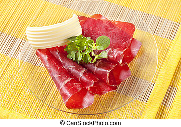 Dry cured ham