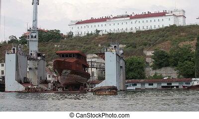dry dock in  harbor of Sebastopol