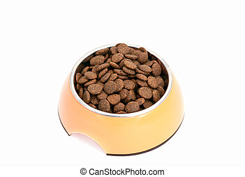 dry dog food in bowl