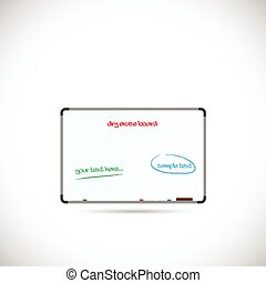 Dry Erase Board Illustration - Illustration of a dry erase...