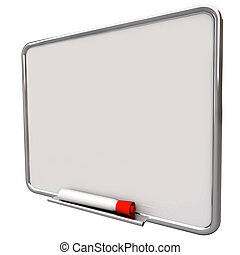 Dry Erase Board Message Red Pen Marker Communication To Do...