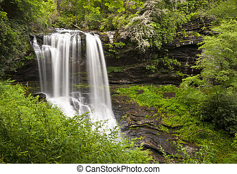 Dry Falls Highlands NC Waterfalls Nature Landscape Western...