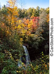 Dry Falls in North Carolina - View of Dry Falls, a waterfall...