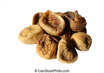 Dry figs isolated