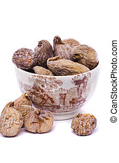 dry figs on a bowl