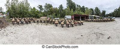 firewood is sold in wheelbarrows - dry firewood is sold in ...