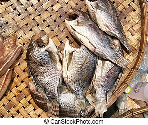 Dry fish - A lot of dry fish - asia food