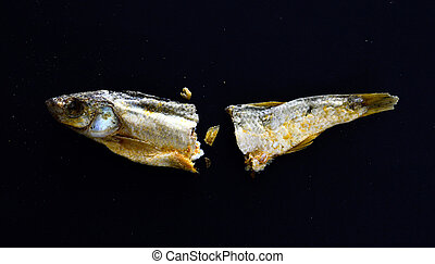 dry fish Alburnus belvica , famous tzironka from Prespa, ...
