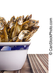 Dry Fish - Small dry fish used in Asian cuisine.