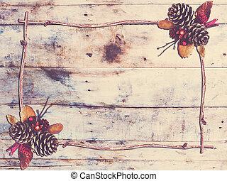 Dry flower frame