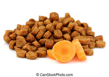 Dry food for dogs and cats.