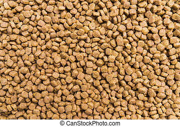 Dry food for dogs and cats. Pet meal background texture