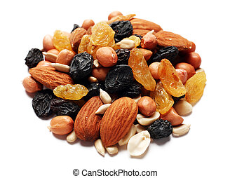 Dry fruit and nut - Mix dry fruit and nut n white background