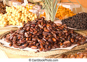Dry fruits on the market