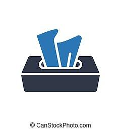 dry glyph color icon