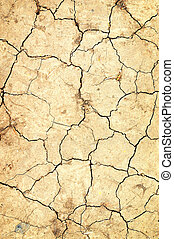 dry ground with cracks
