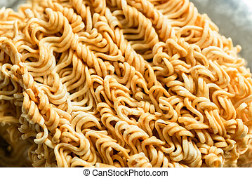 dry instant noodles on a plate