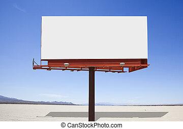 Dry Lake Desert Billboard